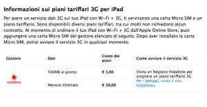 iPad 3G con vodafone