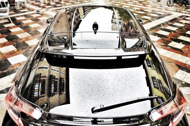 La nuova Honda C-HR fotografata a Madrid